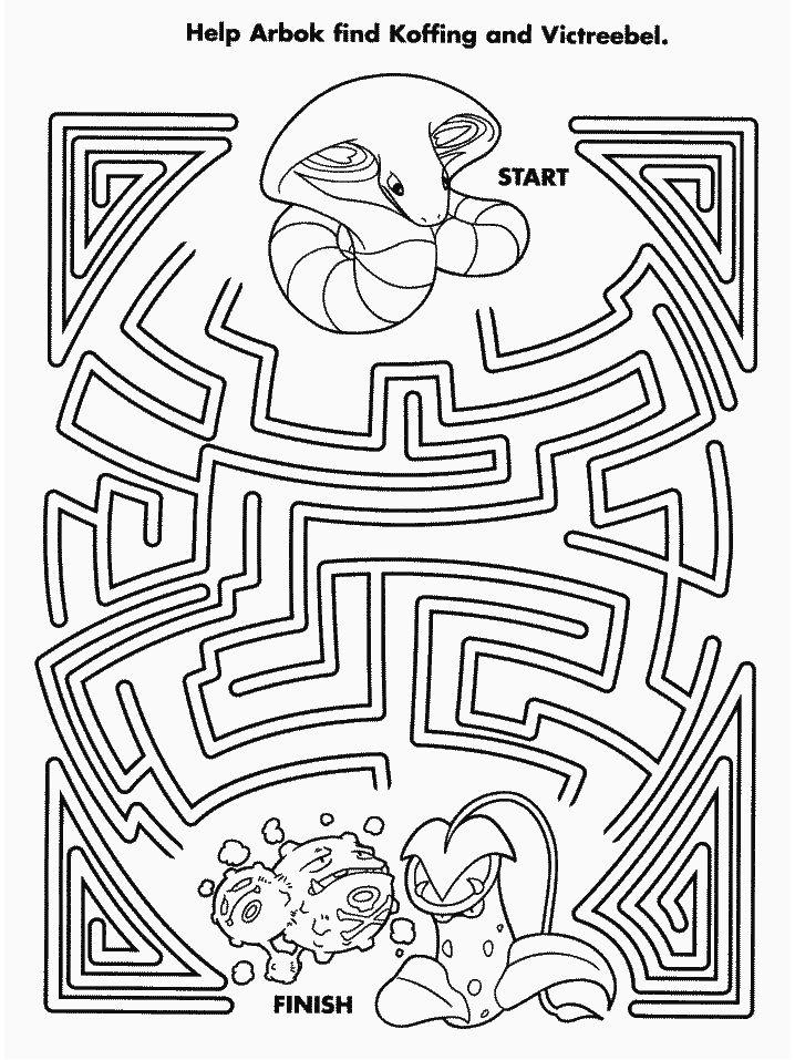 Pokemon maze | Pokemon coloring pages, Pokemon coloring ...