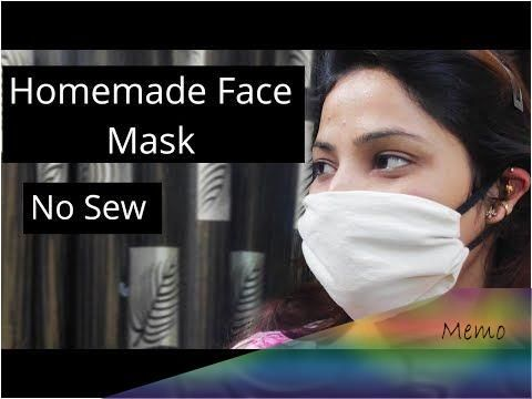 Photo of No Sew DIY Face Mask   how to make face mask at home   handmade face mask – YouT…