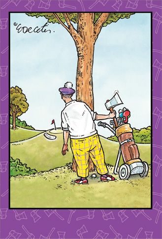 Funny Golf Birthday Cards Golfer With Axe 1 Card 1