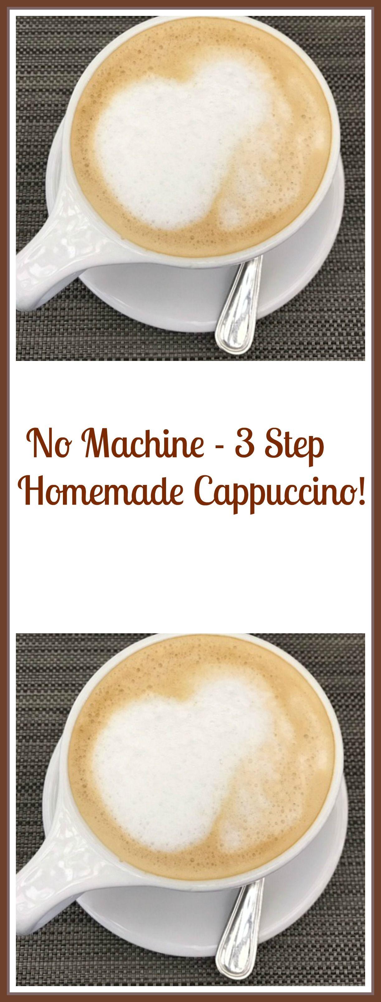 No Machine – 28 Step Homemade Cappuccino