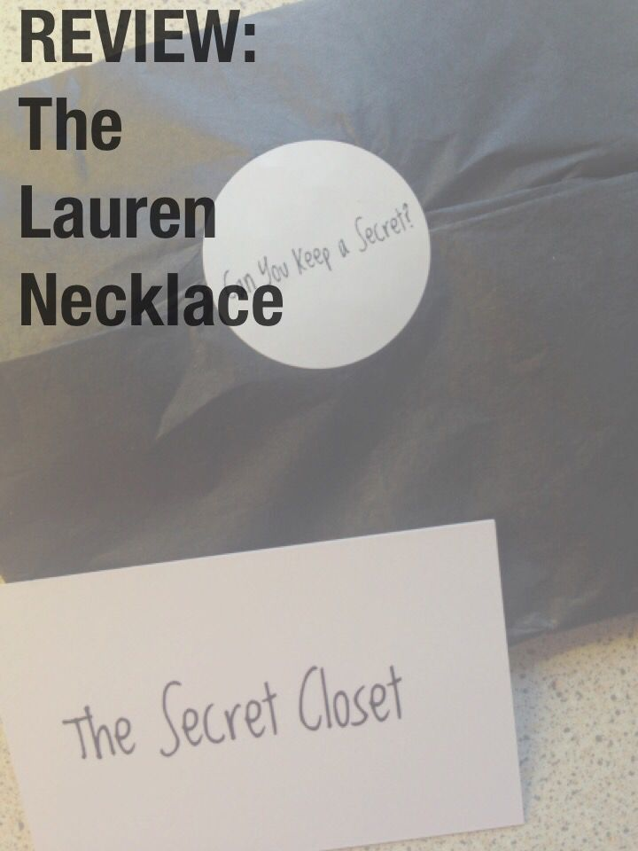The U0027Laurenu0027 Necklace: The Secret Closet (Girl About Town)