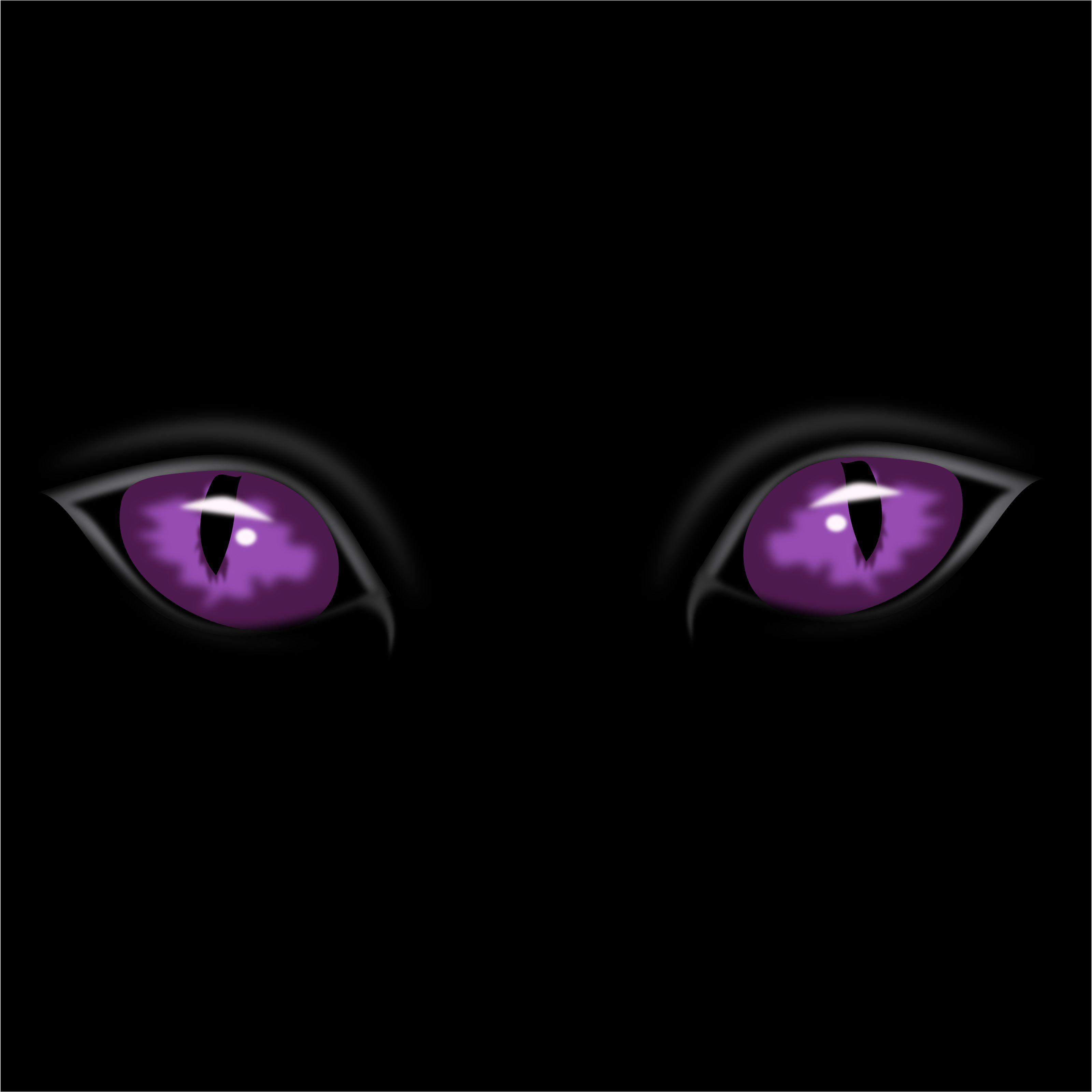 Staring Purple Eyes Free Halloween Vector Clipart Illustration Purple Cat Purple Eyes Scary Eyes