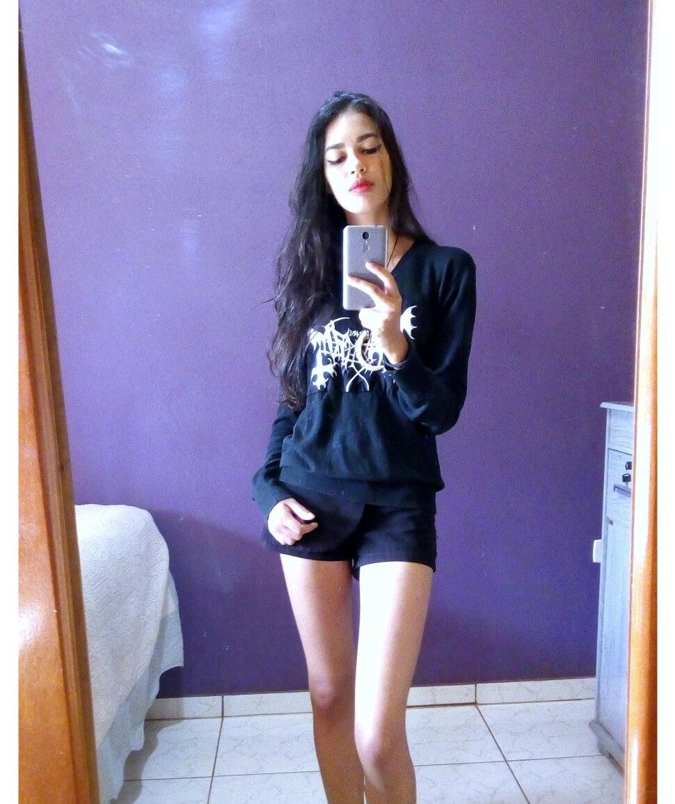 Girl black instagram metal Black