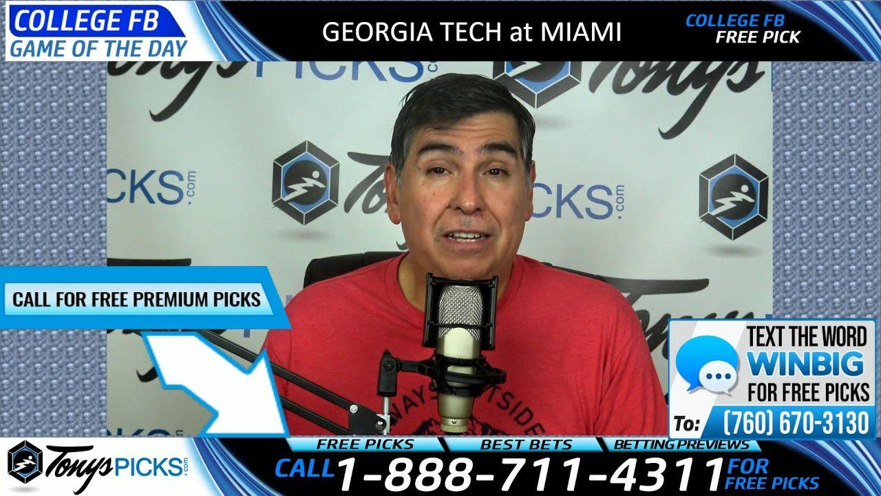 Tech vs. Miami Free NCAA Football Picks and