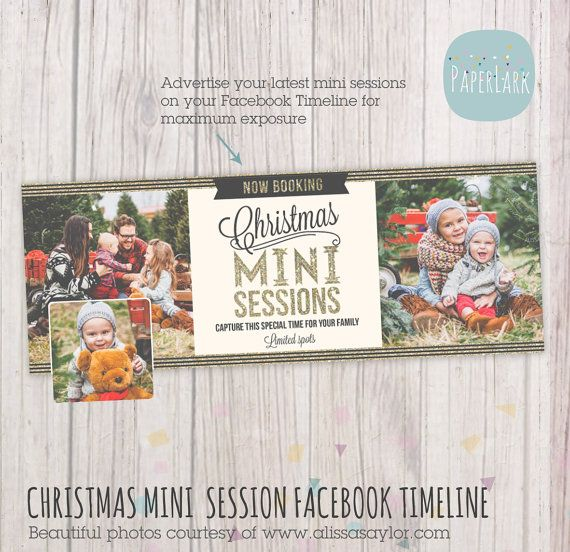Expose your latest mini sessions promotion to all your facebook followers this template is an
