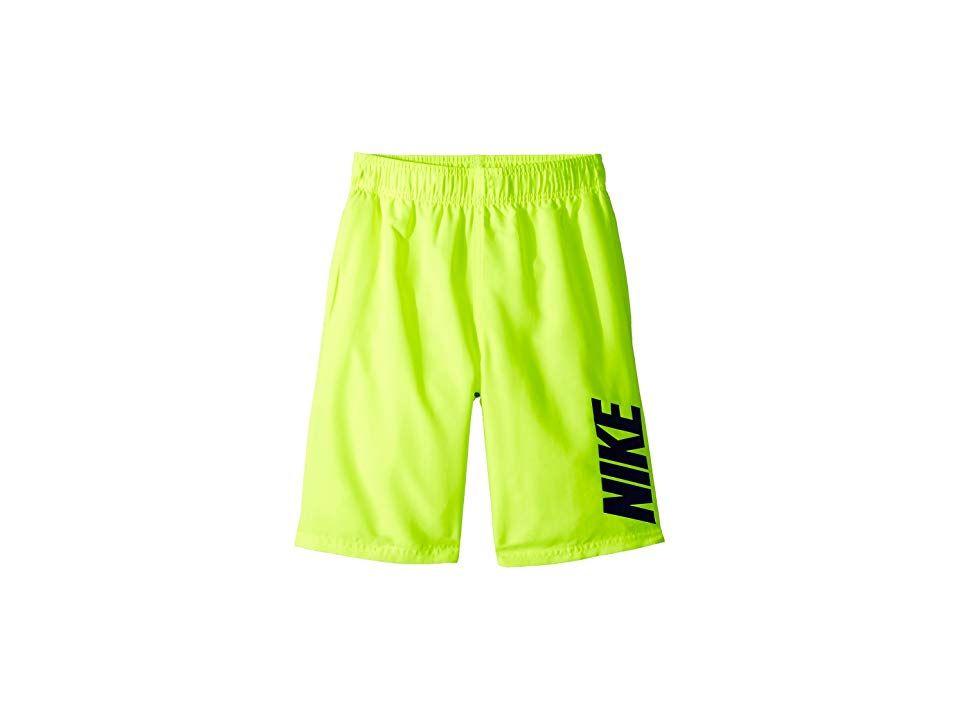 8b574c3583 Nike Kids Swim Breaker Volley Short (Big Kids) (Volt) Boy's Swimwear ...