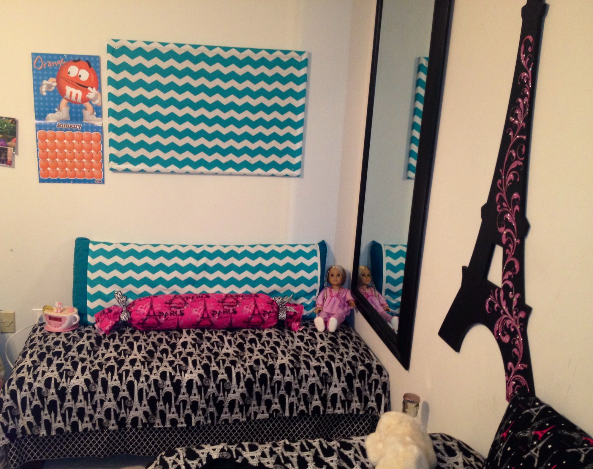13 Year Old Girls Bedroom Chevron Pin Board