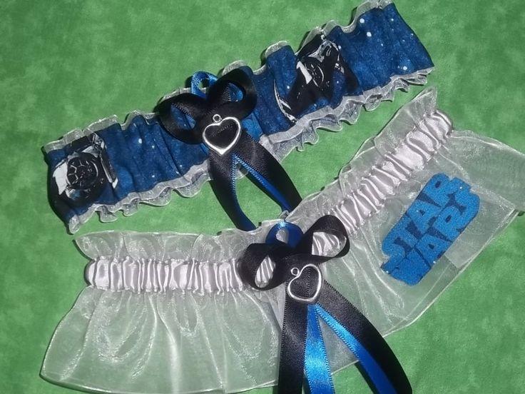 NEW Handmade Wedding Garters Keepsake And Toss STAR WARS Garter Set On Black 2800