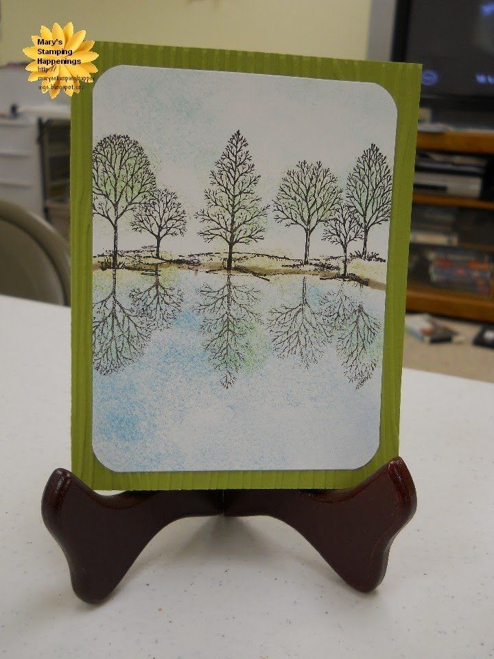 Reflection Mirror Technique Greeting Card Art Card Making