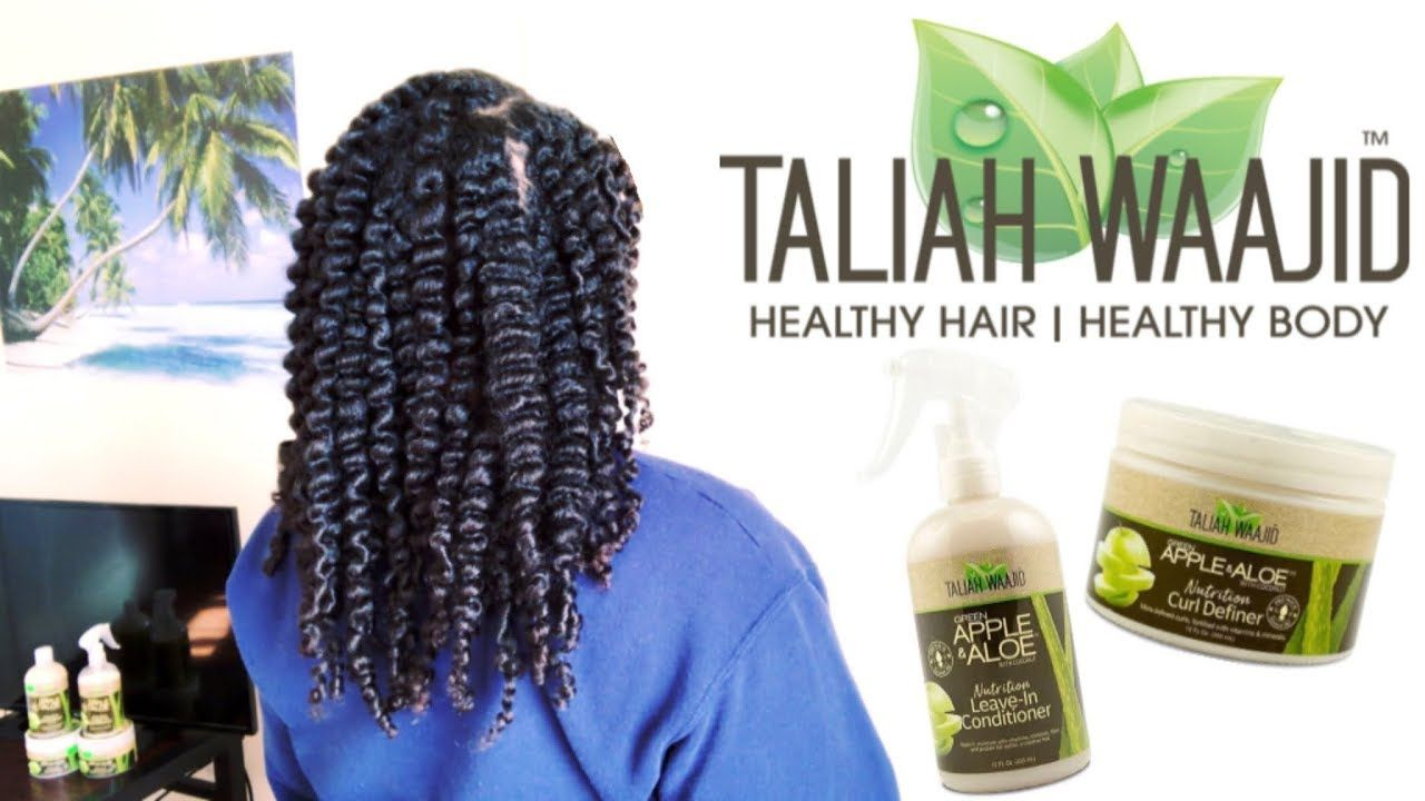 First Time Trying Taliah Waajid Green Apple And Aloe Line Part 1 Reggaeinspired Youtube Green Apple Aloe Healthy Hair