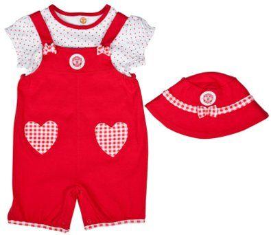 efa3e6af675 Manchester United Baby Girl Dungaree