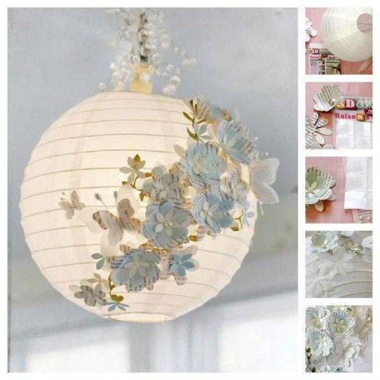 Lampade fai da te   Carta riciclata per il lampadario   Luci   Pinterest   Shabby, Baby bedroom     -> Montaggio Lampadario Fai Da Te