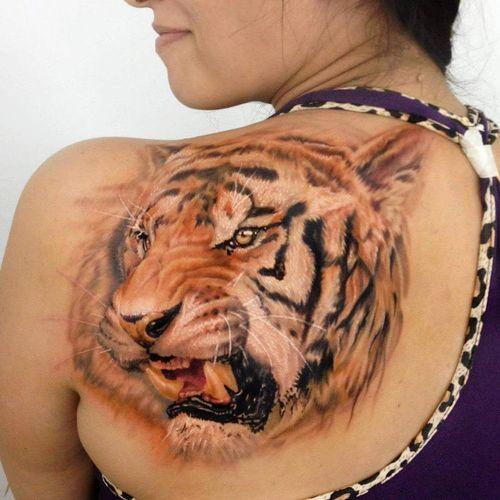a80c0f14d 50 Stunning Tiger Head Tattoo Design Ideas (2019) | Memories | Tiger ...