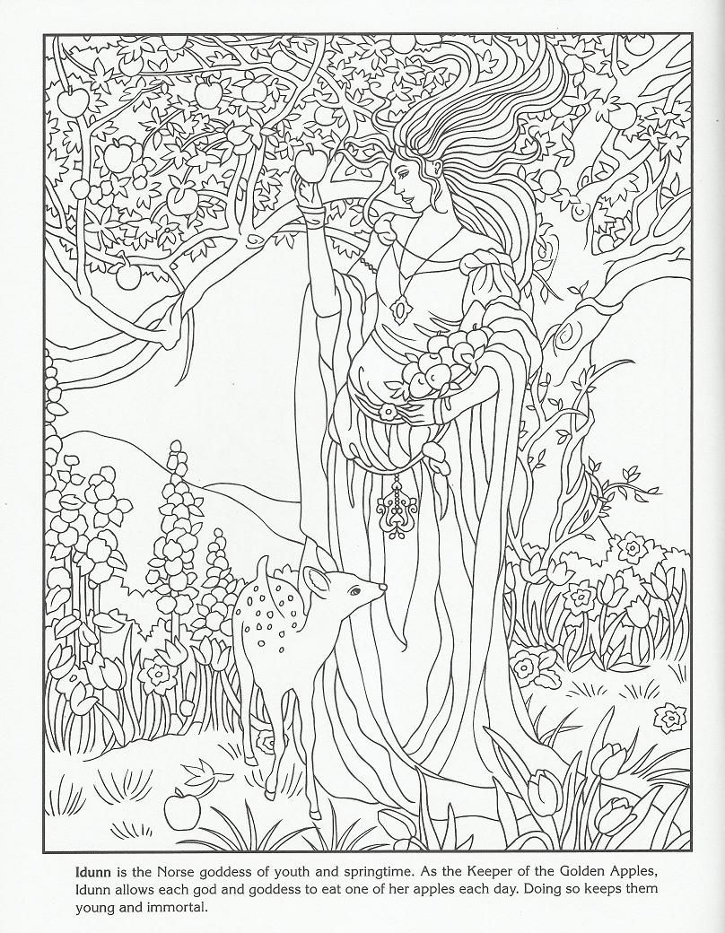 Coloring Pages Fantasy on Pinterest