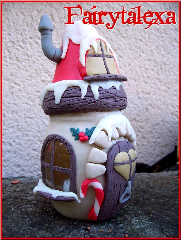 Maisonnette bougie   Fimo Art/Ploymer clay   Pinterest   Clay, Fairy ...