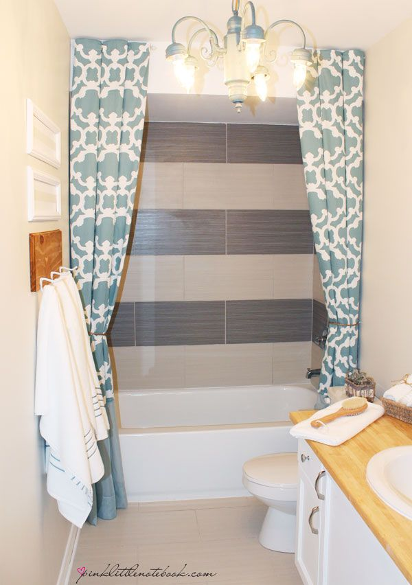 How I Extended My 72 Shower Curtain To 96 Without Sewing Via Pink Little Notebook