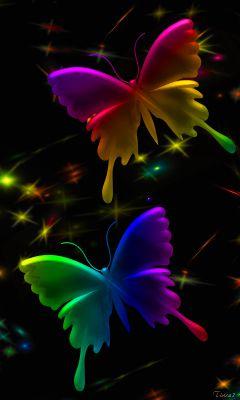 Neon Butterflys   Butterfly wallpaper, Butterfly ...3d Neon Butterflies