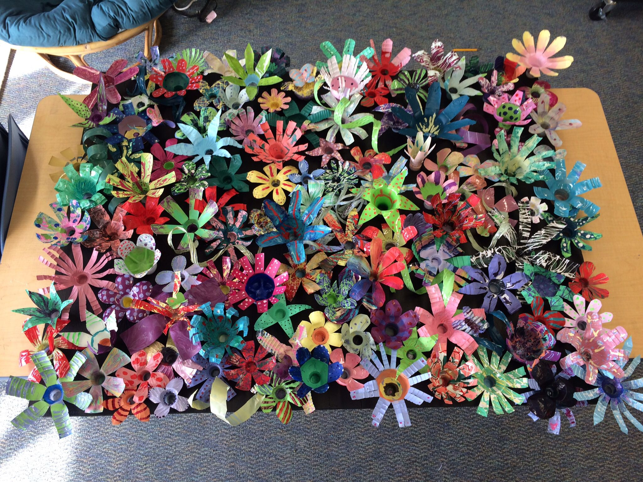 Recycled Water Bottle Art Project Created 6th