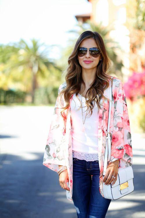 Urban Oasis: Floral Kimono.