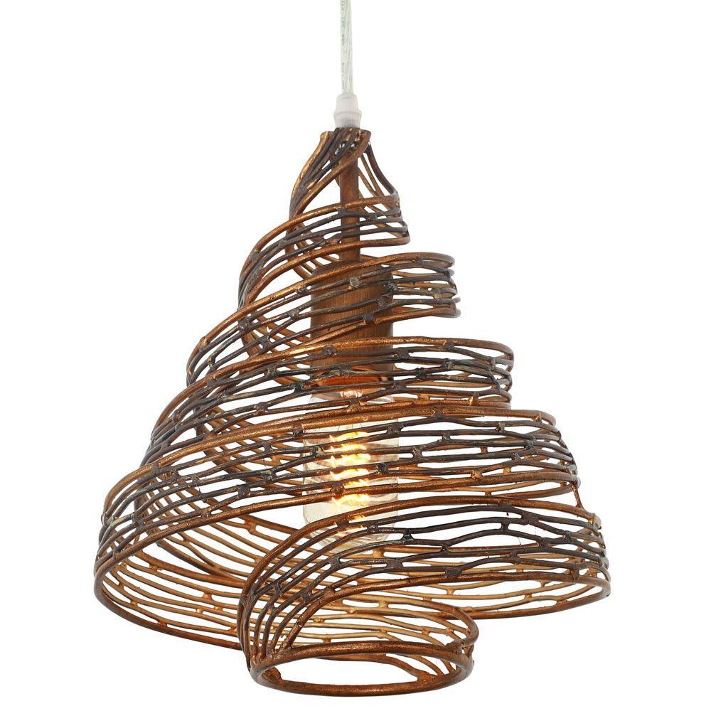 Flow pho lt twist mini pendant hammered ore lighting