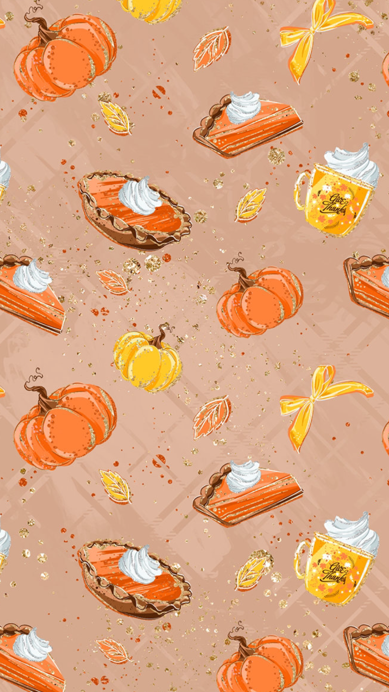 Pumpkin Pie Fall wallpaper, Thanksgiving wallpaper