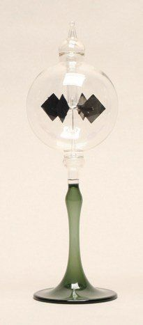 Outdoor Décor-Home Decor Glass Solar Radiometer 3 Dia Clear Sphere on Green Tapered Stem *** Read more reviews of the product by visiting the link on the image.