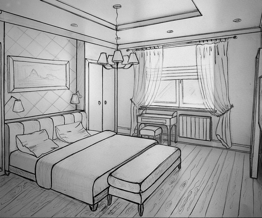 украсить рисунки интерьеров комнат разнообразие