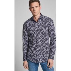 Photo of Shirt Panko – easy iron – patterned in dark blue JoopJoop!