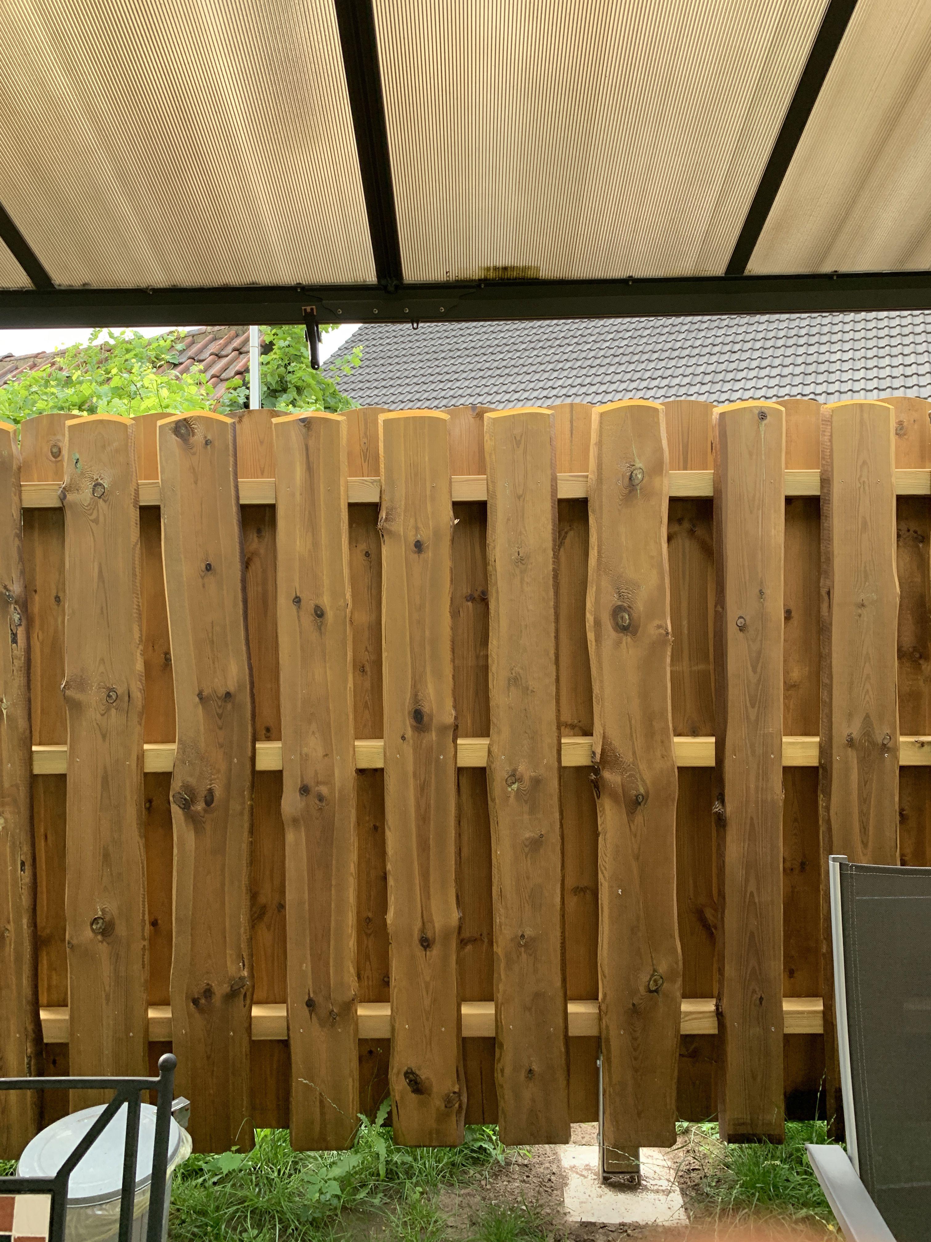 Versetzt Auf Die Zwischenraume Sichtschutzwand Garten