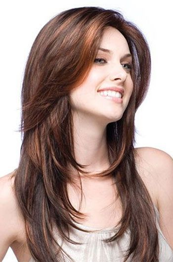 16 Inch Layered Haircuts Brown Indian Human Hair Full Lace