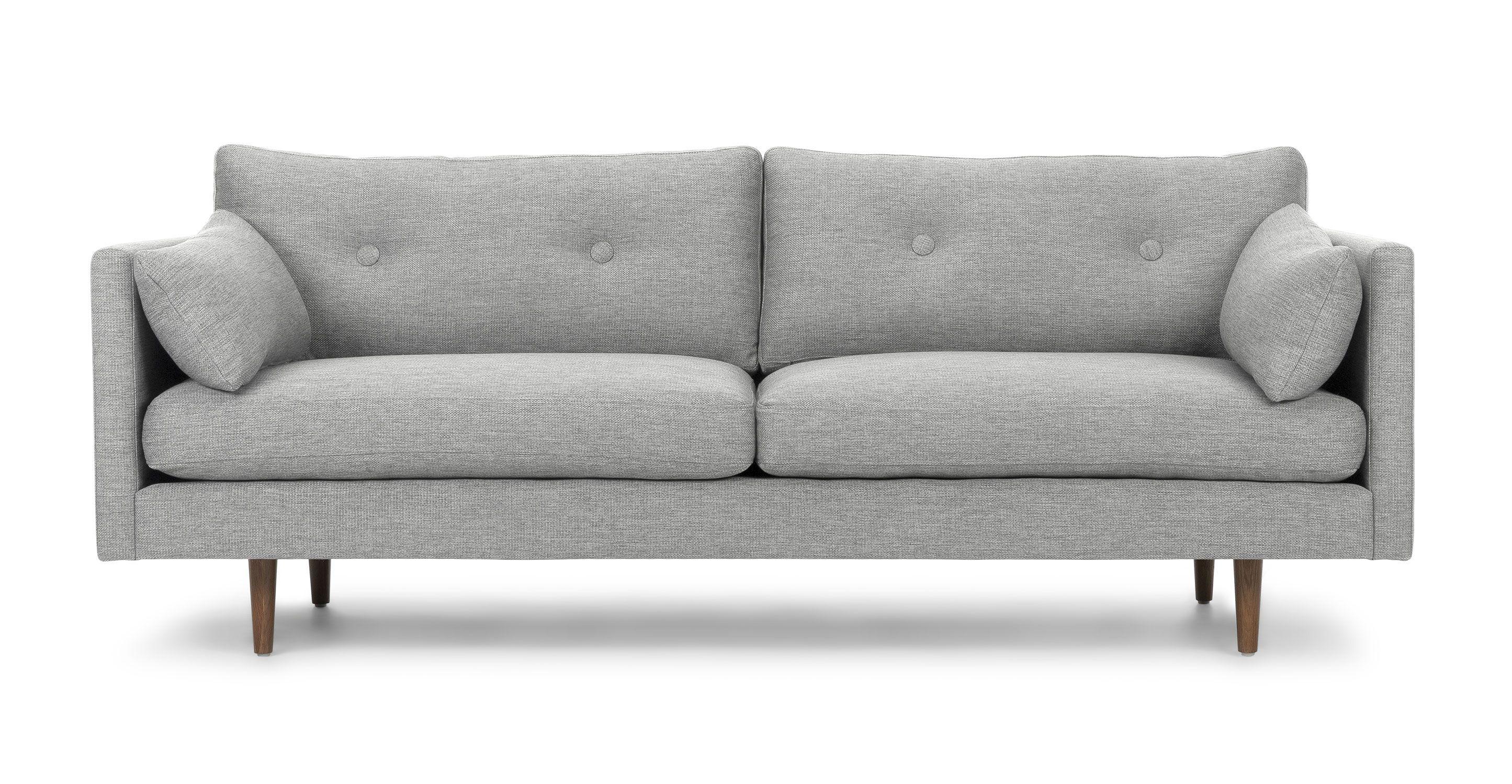 Anton Winter Gray Sofa | Mid century modern sofa ...