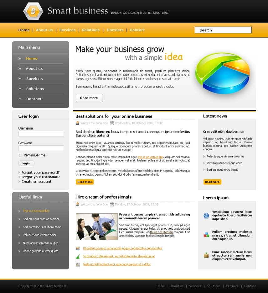 perennial free psd website template for wordpress website