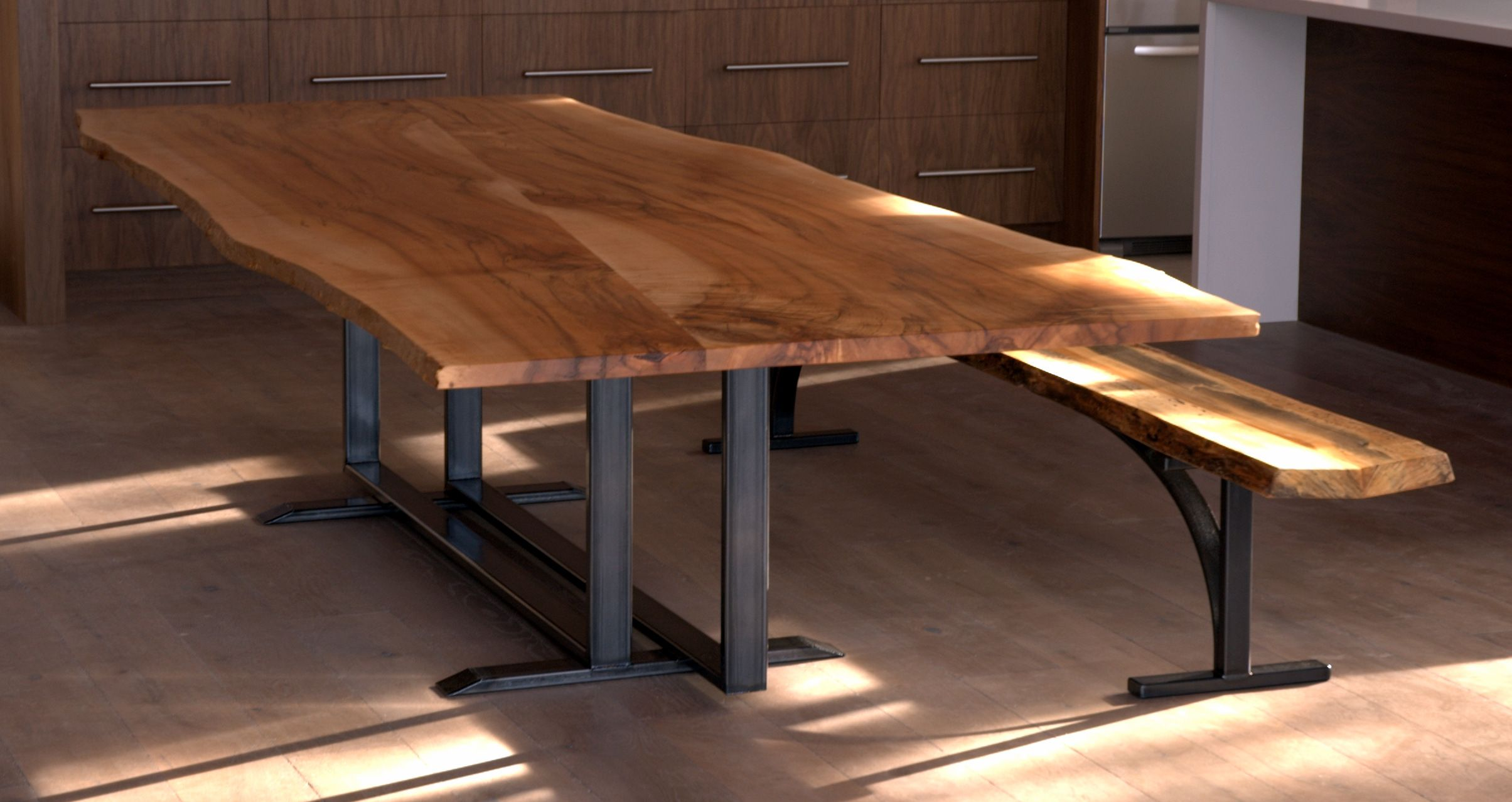 This 10ft live edge sugar maple table is created from two slabs of sugar  maple salvagedThis 10ft live edge sugar maple table is created from two slabs of  . Maple Wood Dining Room Furniture. Home Design Ideas