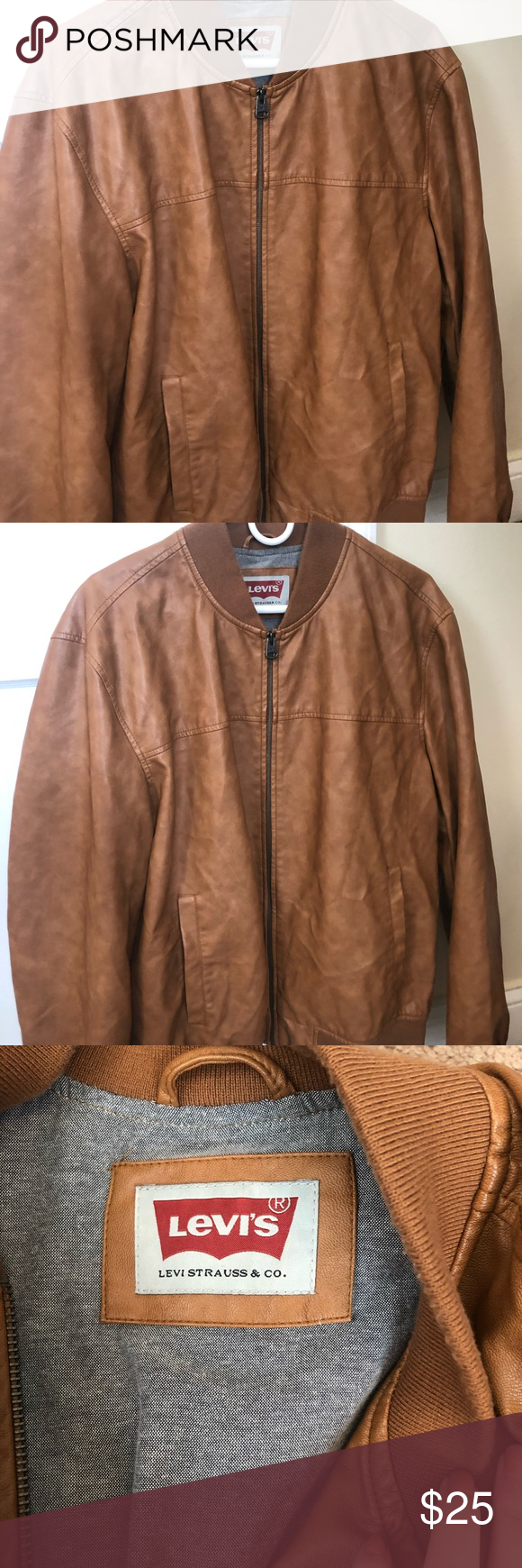 Levi's Leather Jacket ( Large ) This men's jacket is a