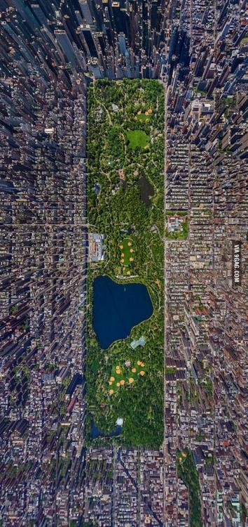Top View of Central Park