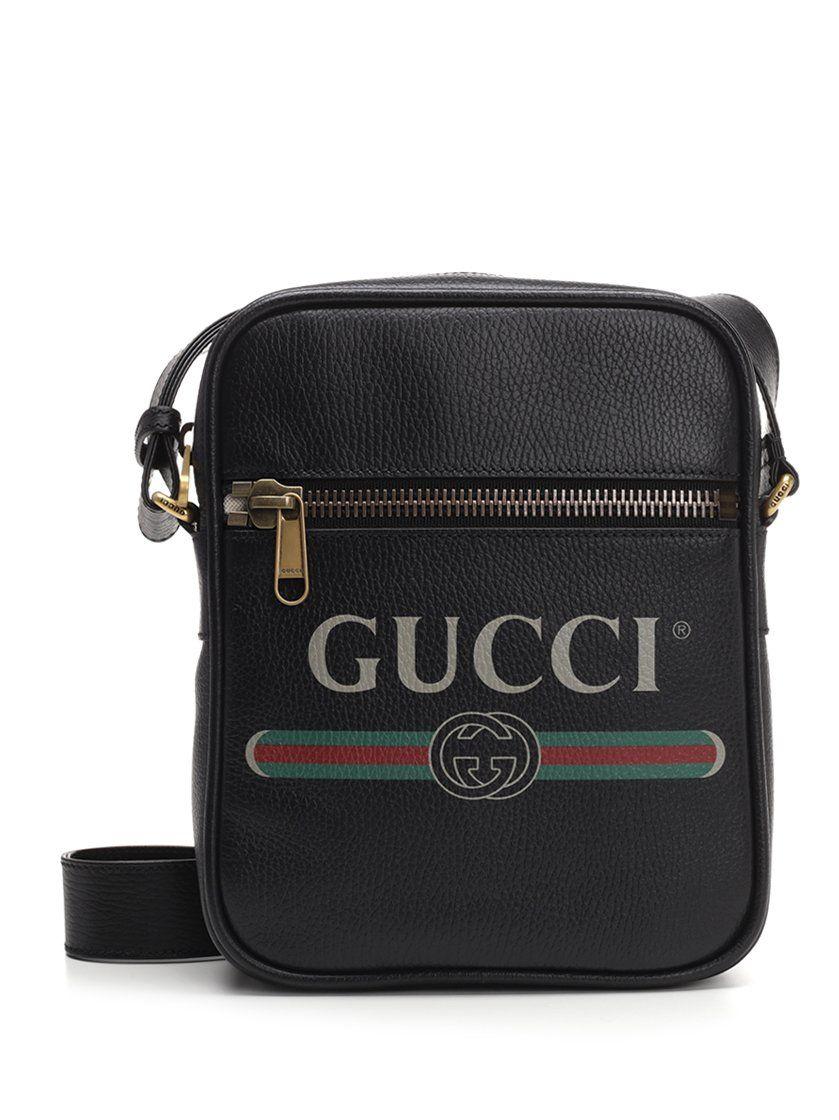 4baff70f2ea9 GUCCI GUCCI LOGO FLIGHT SHOULDER BAG.  gucci  bags  shoulder bags  leather