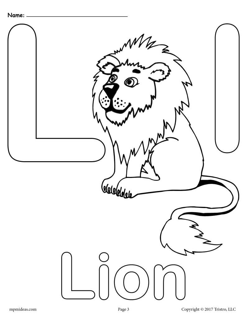 Letter L Alphabet Coloring Pages 3 Printable Versions Alphabet