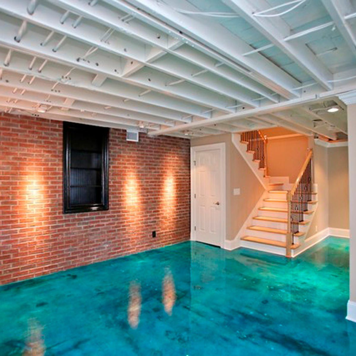 12 painted floor ideas to inspire your next diy project in on concrete basement wall paint colors id=95140