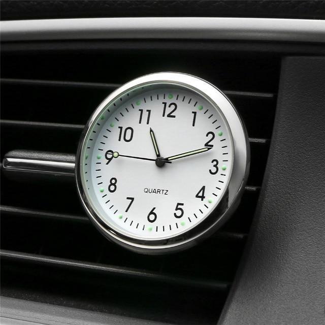 Cars Ornament Interior Decoration Clock Auto Watches Automotive Vents Clip Air Freshener Clo Car Ornaments Car Interior Accessories Car Interior
