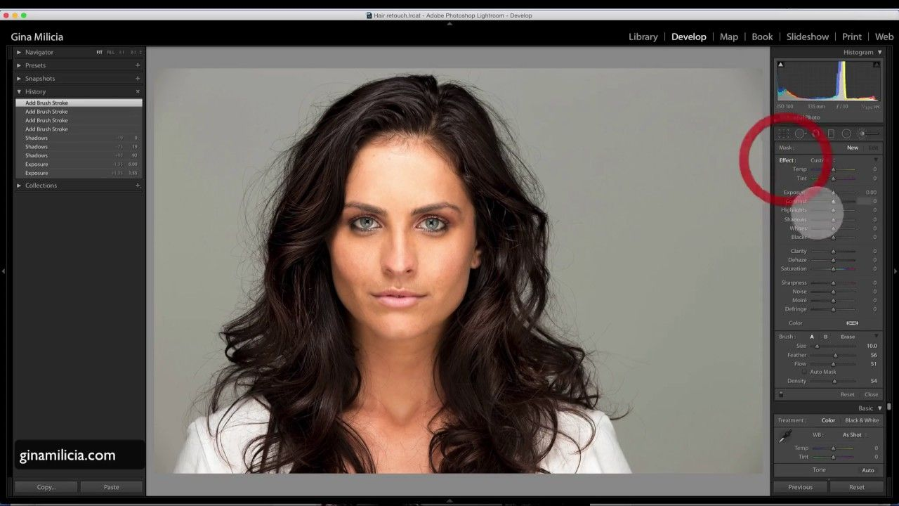 How to retouch hair in lightroom YouTube for