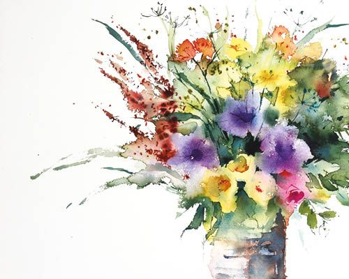 How To Make Bolder Brushstrokes In A Floral Watercolour Part 1