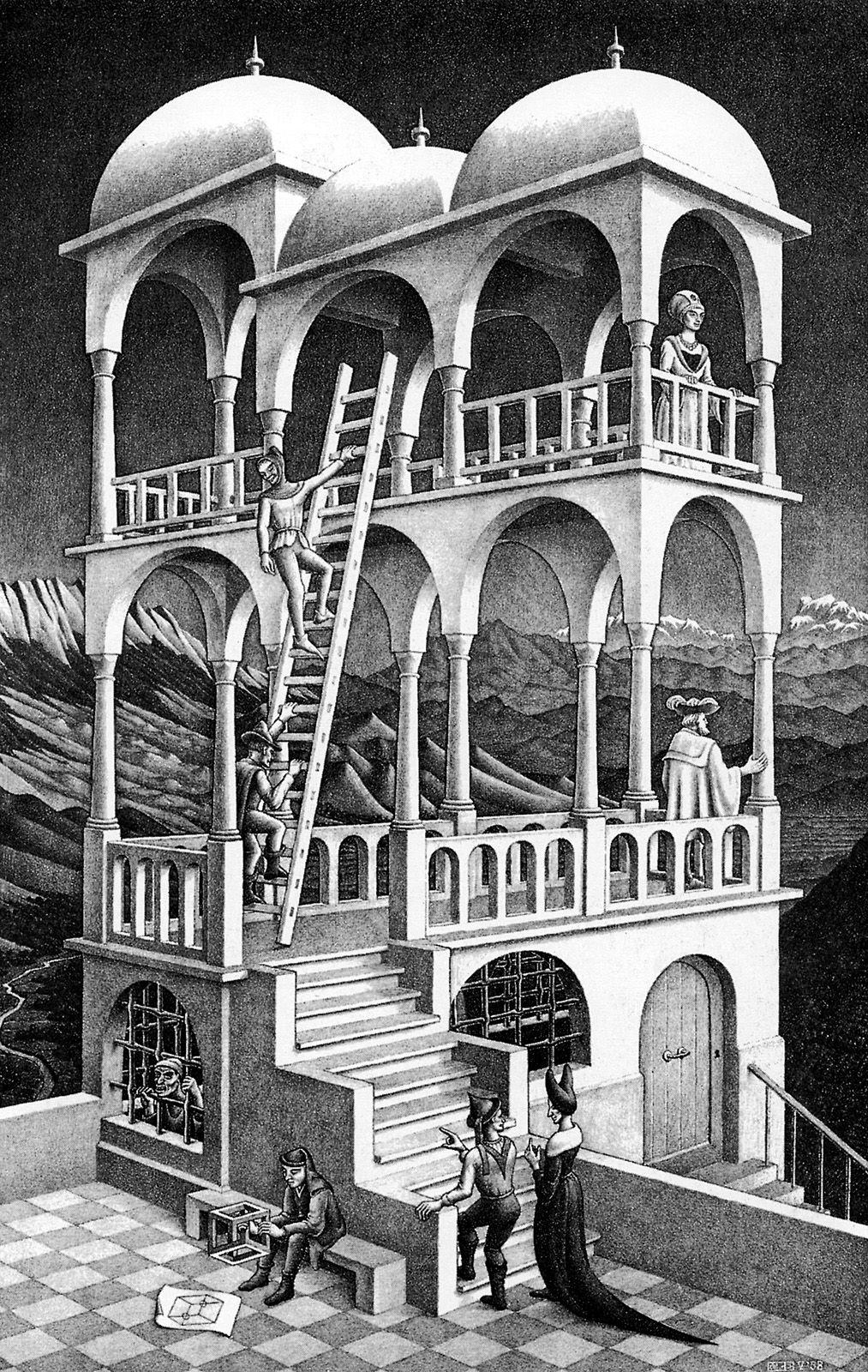 Maurits Cornelis Escher Belvedere Escher Art Mc Escher Art Illusion Art