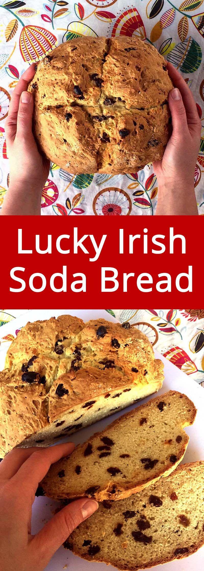 Easy Irish Soda Bread Recipe With Raisins No Buttermilk Needed Recipe Soda Bread Irish Soda Bread Irish Soda