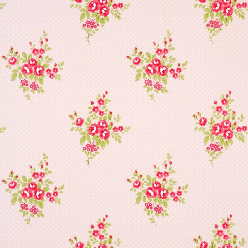 Floral Wallpaper Floral Bouquet Shabby Chic Wallpaper Small Floral