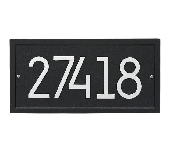 Front Door Decor Front Door Accessories Pottery Barn In 2020 Address Plaque Personalized Wall Plaques Personalized Wall