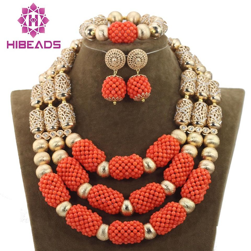 2016 wholesale fashion african coral beads jewelry set for ...