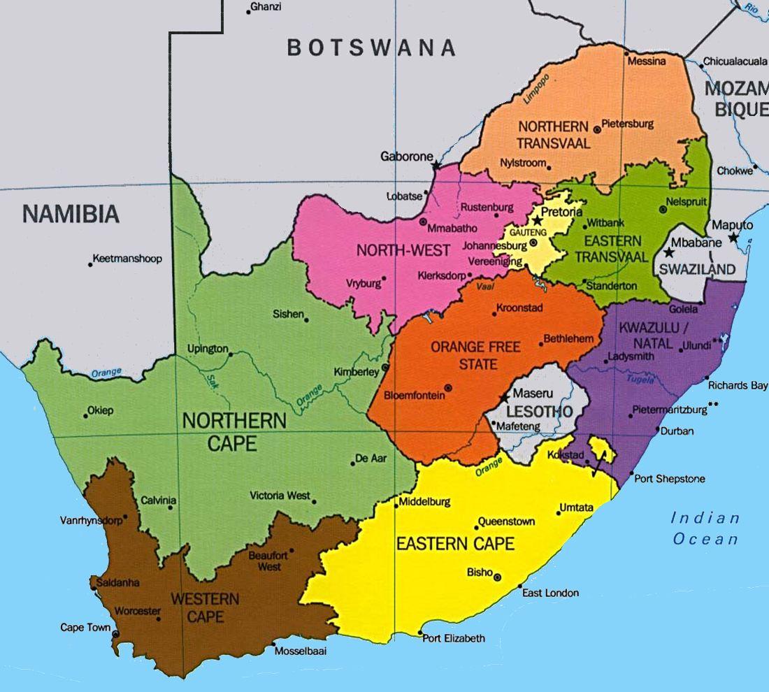 Bien-aimé Carte Afrique du sud | Afrique du Sud | Pinterest | Carte afrique  EW79