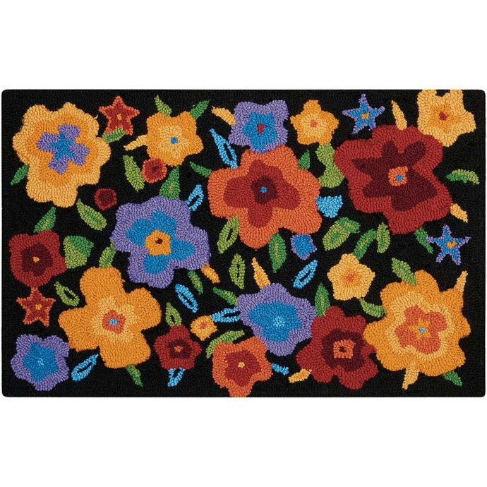 Nourison Everywhere 20 Inch X 33 Inch Multicolor Floral Kitchen