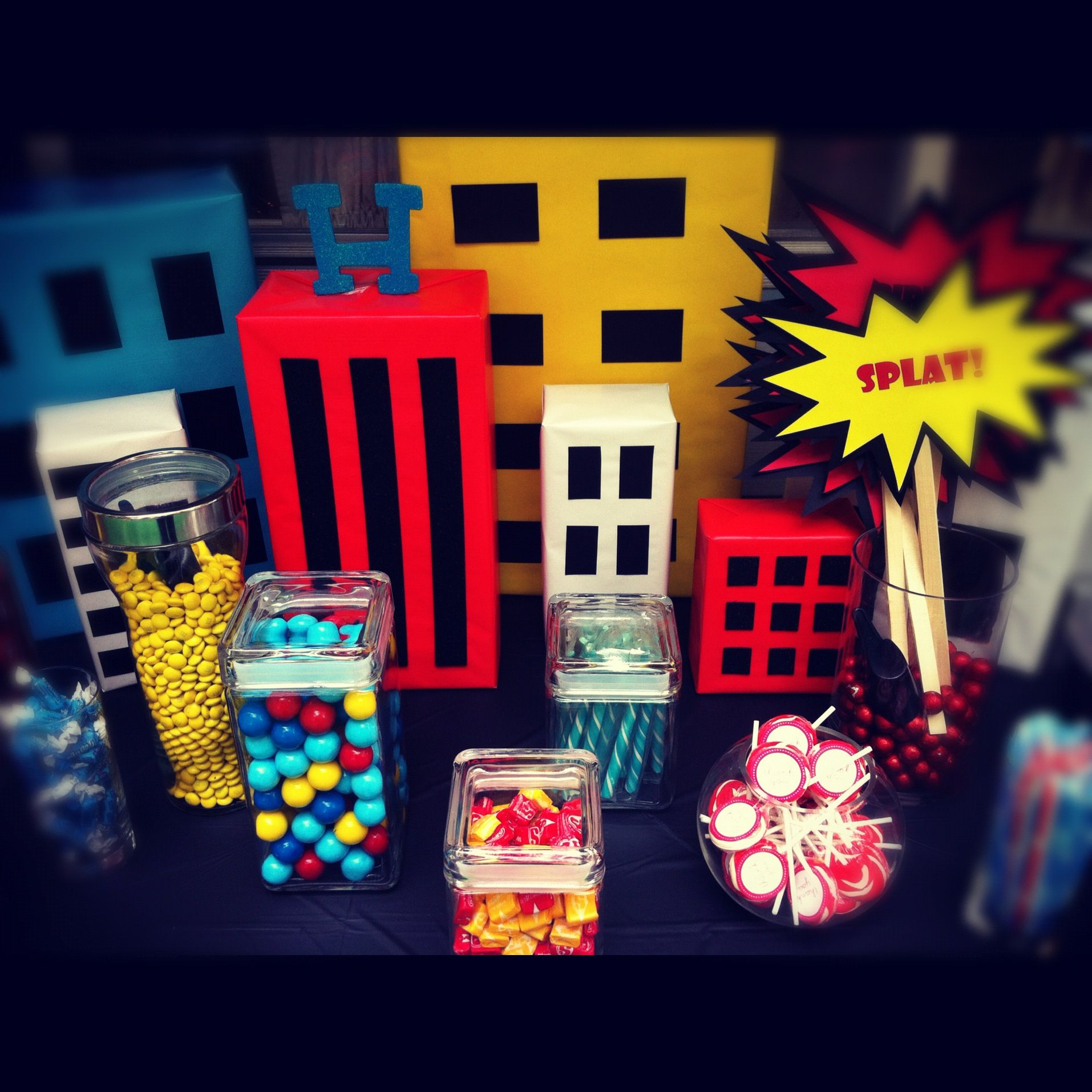 Candy Table- Superhero Themed
