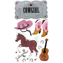 Jolees Boutique Dimensional Stickers, Cowgirl